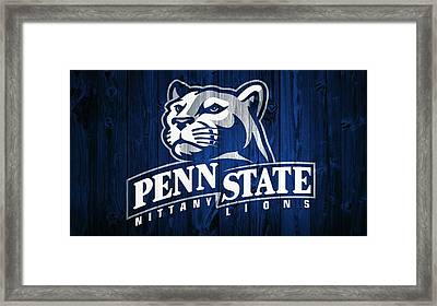 Penn State Barn Door Framed Print by Dan Sproul