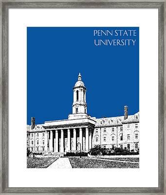 Penn State University - Royal Blue Framed Print by DB Artist