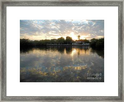 Pennekamp Sunset Framed Print by Adam Jewell