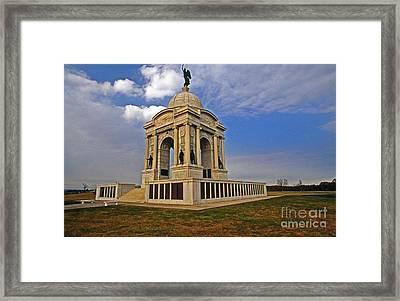 Pennsylvania Monument  Framed Print by Skip Willits