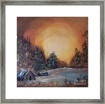 Pennsylvania Shenango Dawn In Oil Framed Print by Janice Rae Pariza