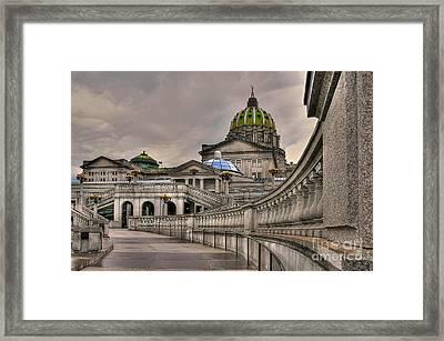 Pennsylvania State Capital Framed Print by Lois Bryan