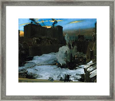 Pennsylvania Station Excavation Framed Print by Celestial Images