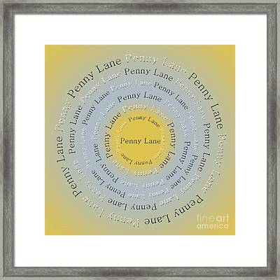 Penny Lane 2 Framed Print by Andee Design