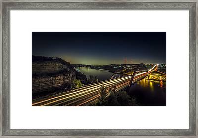 Pennybacker Bridge Framed Print by David Morefield