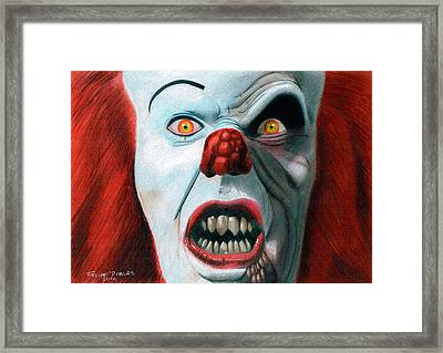 Pennywise Framed Print by Felipe Robles