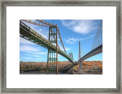 Penobscot Narrows Bridges Framed Print by Clarence Holmes