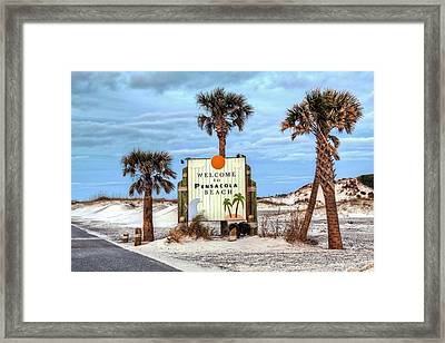 Pensacola Beach Framed Print by JC Findley