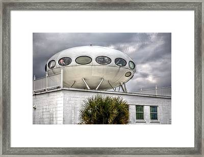 Pensacola Beach Ufo House Framed Print by JC Findley