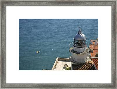 Pensicola Lighthouse Framed Print by Jim  Wallace