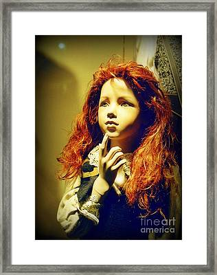 Pensive Mannequin Framed Print by Halifax Photography John Malone