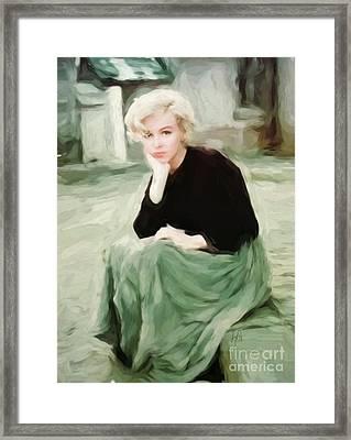 Pensive Marilyn Framed Print by Lynne Alexander
