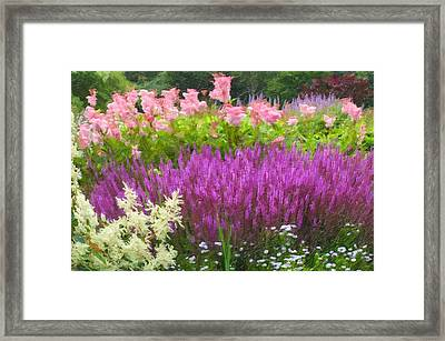 Pensthorpe Wave Garden Framed Print by Lanjee Chee