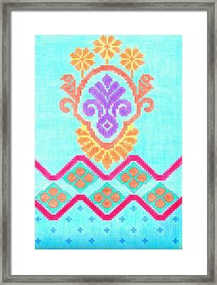 Pentagon Kristina Crayons Framed Print by Sheshadri A