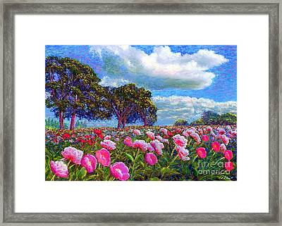 Peony Heaven Framed Print by Jane Small