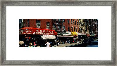 People In A Street, Mott Street Framed Print by Panoramic Images