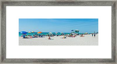 People On The Beach, Venice Beach, Gulf Framed Print by Panoramic Images