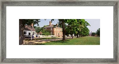 People Standing On The Street Framed Print by Panoramic Images