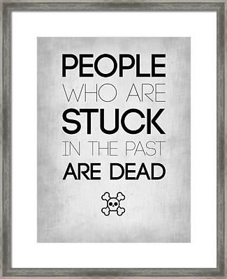 People Who Are Stuck Poster 1 Framed Print by Naxart Studio