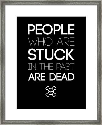 People Who Are Stuck Poster 2 Framed Print by Naxart Studio
