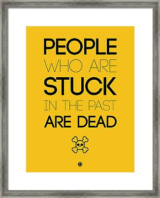 People Who Are Stuck Poster 3 Framed Print by Naxart Studio
