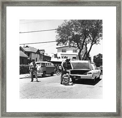 People's Park Pepper Gas Framed Print by Underwood Archives Grierson