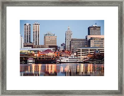 Peoria Illinois Skyline Framed Print by Paul Velgos