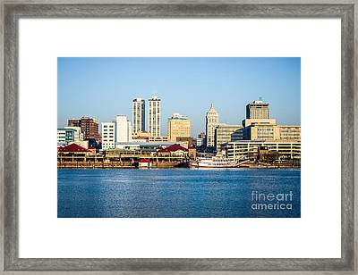 Peoria Skyline And Downtown City Buildings Framed Print by Paul Velgos
