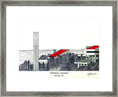 Pepperdine University Framed Print by Frederic Kohli