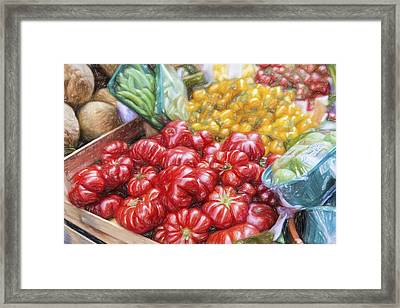 Peppers Framed Print by Terry J Alcorn
