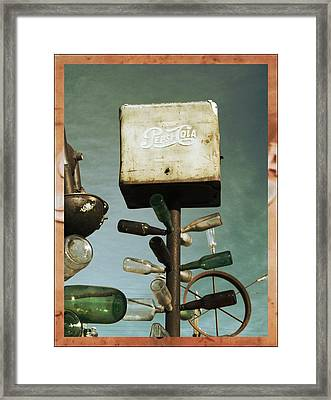 Pepsi Bottle Tree - Route 66 Framed Print by Glenn McCarthy Art and Photography