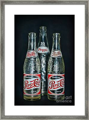 Pepsi Bottles From The 1950s Framed Print by Paul Ward