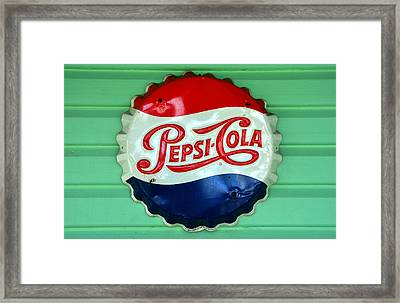 Pepsi Cap Framed Print by David Lee Thompson
