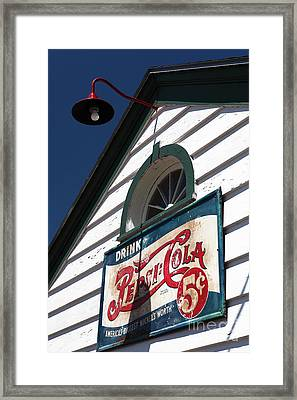 Pepsi Cola 5 Cents Framed Print by John Rizzuto