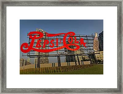 Pepsi Cola Framed Print by Susan Candelario