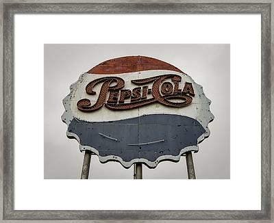 Pepsi Cola Vintage Neon Sign Framed Print by Chris Harris