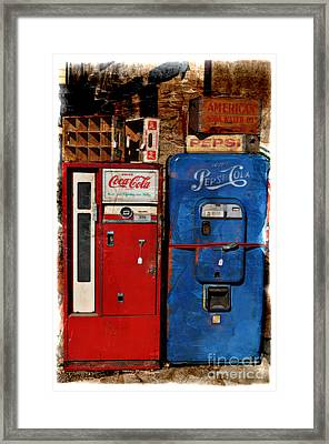Pepsi Framed Print by Mary Machare