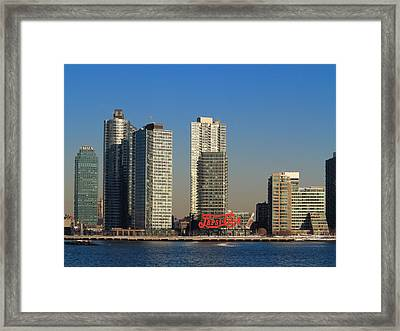 Pepsi Neon Sign In Queens Framed Print by Frank Romeo