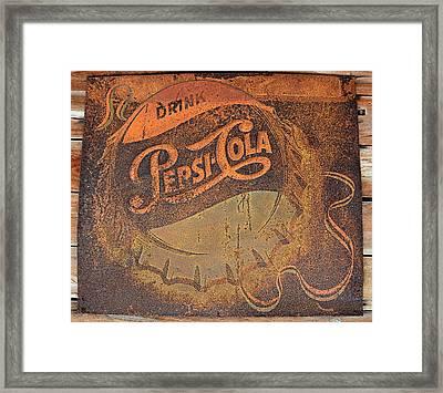 Pepsi Cola Rust Framed Print by David Lee Thompson