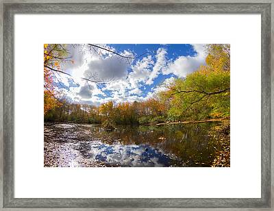 Pequotsepos Duck Pond Reflection   Framed Print by Kirkodd Photography Of New England
