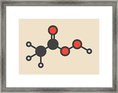 Peracetic Acid Molecule Framed Print by Molekuul