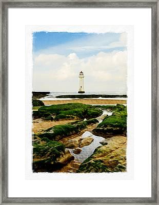 Perch Rock Lighthouse Framed Print by Alan Sherlock