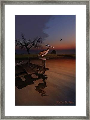 Perch With A View Framed Print by Kylie Sabra