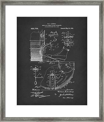 Percussion System 1909 Patent Art Black Framed Print by Prior Art Design