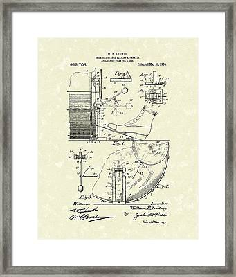 Percussion System 1909 Patent Art Framed Print by Prior Art Design