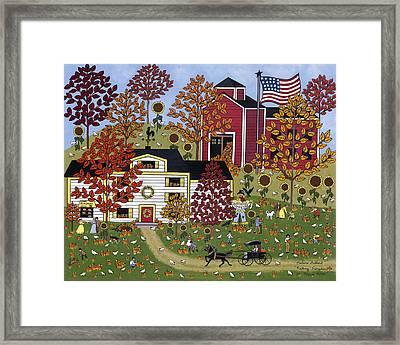 Percy's Pumpkin Patch Framed Print by Medana Gabbard