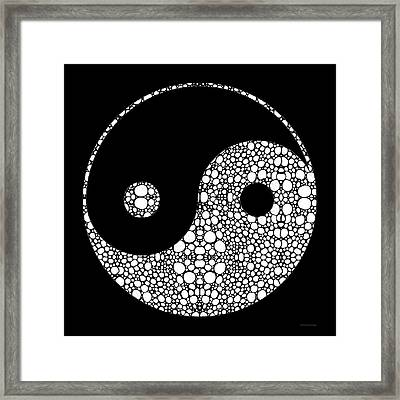 Perfect Balance 2 - Yin And Yang Stone Rock'd Art By Sharon Cummings Framed Print by Sharon Cummings