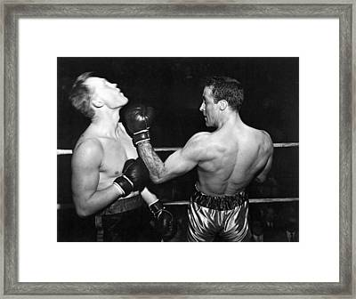 Perfect Form Uppercut Framed Print by Underwood Archives