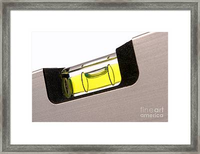 Perfect Level Framed Print by Olivier Le Queinec