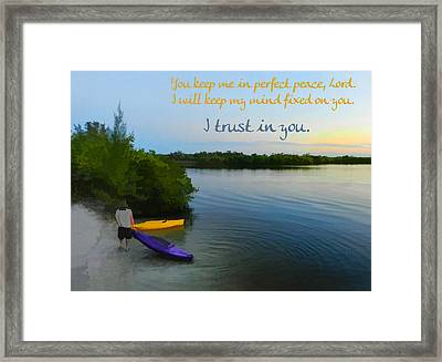 Perfect Peace Framed Print by Grace Dillon